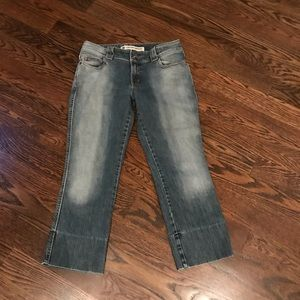 GAP low rised cropped jeans size 10